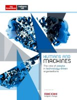 Technology frontiers humans and machines   the role of people in technology driven organisations