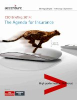 CEO briefing 2014   the agenda for insurance