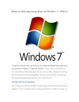 Kiểm tra khả năng tương thích của windows 7 part 2