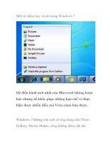 Một số điểm hay và dở trong windows 7