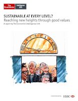 Sustainable at every level reaching new heights through good values