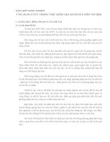 ỨNG DỤNG CNTT TRONG VIỆC KIỂM TRA ĐÁNH GIÁ môn TIN học