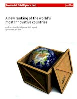 A new ranking of the world's most innovative countries