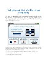 Cách gửi email đính kèm file với mọi dung lượng