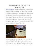 Các quy luật cơ bản của SEO copywriting