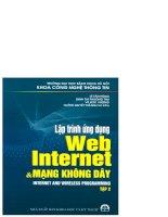 Ebook lập trình ứng dụng web, internet và mạng không dây (tập 2)  phần 1   huỳnh quyết thắng (chủ biên)