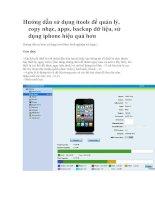 Hướng dẫn sử dụng itools để quản lý, copy nhạc, apps, backup dữ liệu, sử dụng iphone hiệu quả hơn