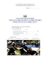 skkn bạo lực học đường và một số biện pháp ngăn ngừa hiệu quả