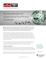 An introduction to value based healthcare in europe