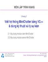 Bài giảng môn lập trình mạng  chương 2   TS  nguyễn văn hiệp