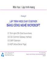 Bài giảng môn lập trình mạng  chương 8   TS  nguyễn văn hiệp