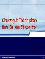 Bài giảng phương pháp lập trình hướng đối tượng   chương 5  thành phần tĩnh, ba vấn đề con trỏ