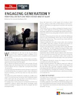 How employers can engage with generation y