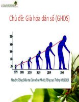 Già hóa dân số và một số giải pháp khắc phục