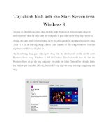 Tùy chỉnh hình ảnh cho start screen trên windows 8