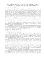 skkn một số KINH NGHIỆM tạo HỨNG THÚ học tập TÍCH cực môn địa lí CHO học SINH TRƯỜNG THPT SÔNG RAY