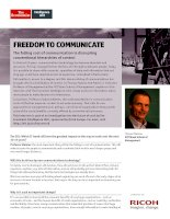 Freedom to communicate interview with thomas malone, MIT sloan school of management