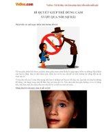 Bí quyết giúp trẻ dũng cảm vượt qua nỗi sợ hãi