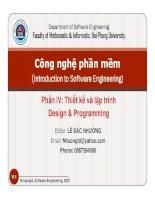 Bài giảng công nghệ phần mềm   chương 6  phương pháp thiết kế hệ thống