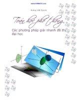 Phương pháp giải nhanh các dạng bài tập trong đề thi đại học môn toán 2016