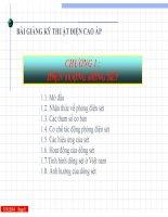 Bài giảng kỹ thuật điện cao áp  chương 1   hiện tượng dông sét