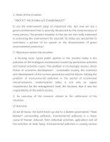 Bài liên môn dịch môi trường