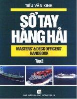 Ebook sổ tay hàng hải (tập 2)  phần 1   NXB giao thông vận tải