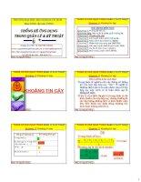 Bài giảng thống kê ứng dụng trong quản lý và kỹ thuật  chương 2   PGS  nguyễn thống
