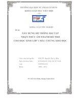XÂY DỰNG hệ THỐNG bài tập NHẬN THỨC âm THANH hỗ TRỢ CHO học SINH lớp 1 mắc CHỨNG KHÓ đọc