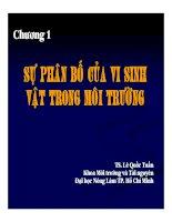 Bài giảng vi sinh vật môi trường (TS  lê quốc tuấn)   chương 1 2