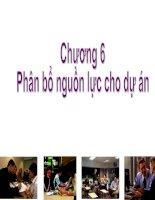 Bài giảng quản trị dự án  chương 6   TS  huỳnh thanh điền