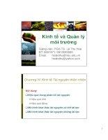 Bài giảng kinh tế và quản lý môi trường  chương 4   PGS TS lê thu hoa