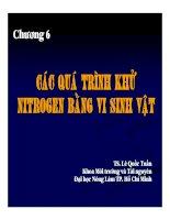 Bài giảng vi sinh vật môi trường (TS  lê quốc tuấn)   chương 6