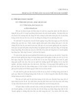 CHƯƠNG 6 PHÁP LUẬT về PHÁ sản và GIẢI THỂ DOANH NGHIỆP