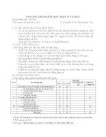Chương trình môn học điện tử cơ bản (trình độ trung cấp nghề)