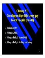 Bài giảng quy hoạch và quản lý đô thị  chương 7 (tt)