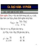 Bài giảng toán kinh tế  chương 4   nguyễn ngọc lam