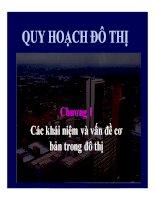 Bài giảng quy hoạch và quản lý đô thị  chương 1   các khái niệm và vấn đề cơ cơ bản trong đô thị