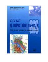 Ebook cơ sở hệ thống thông tin địa lý (GIS) trong quy hoạch và quản lý đô thị  phần 1   PTS  phạm trọng mạnh (chủ biên)