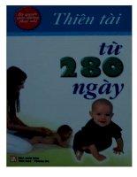 Sách giáo dục sớm Thiên tài từ 280 ngày