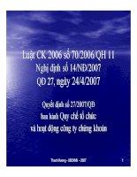 Bài giảng luật CK 2006 số 70 2006 QH 11