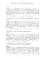 Bài tập tài chính doanh nghiệp   chương 1  phân tích và quyết định thuê tài sản