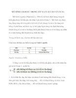 MÔ HÌNH LOGISTIC TRONG xếp HẠNG rủi RO tín DỤNG