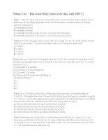 Nâng cao   bài toán thủy phân este đặc biệt (đề 1)