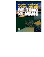 Giáo trình công nghệ bê tông xi măng (tập 1)   GS TS  nguyễn tấn quý (chủ biên)