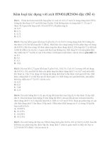 Kim loại tác dụng với axit HNO3,H2SO4 đặc (đề 4) có lời giải chi tiết