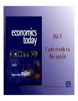 Bài giảng kinh tế học vi mô (TS trần thị hồng việt)   bài 5  cạnh tranh và độc quyền