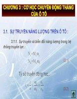 Bài giảng lý thuyết ô tô   chương 3  cơ học chuyển động thẳng của ô tô