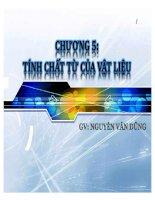 Bài giảng vật liệu (GV nguyễn văn dũng)   chương 5  tính chất từ của vật liệu