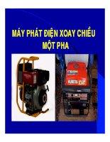 LÝ THUYÊT máy PHÁT điện XOAY CHIỀU một PHA